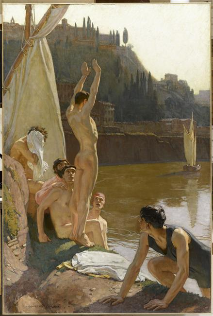 Georges-Paul Leroux (1877-1957), The Bathers in Tiber, Rome