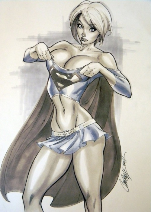 comicsareart:  Power Girl by J. Scott Campbell