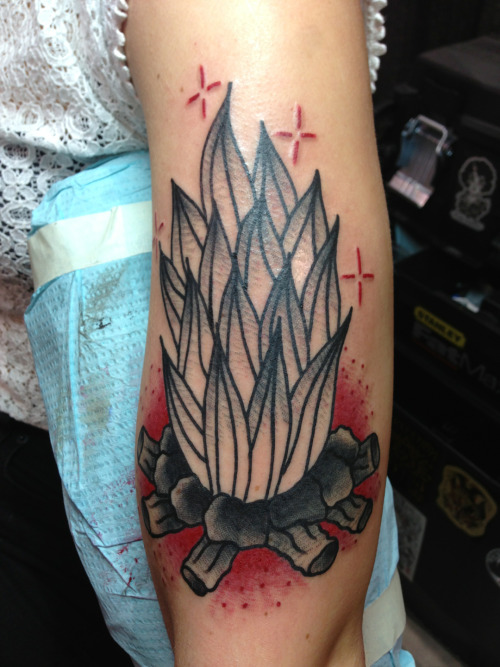 darylrodrigueztattoo:  Camp fire I done did at the convention  Hold It Down Tattoo 302 N. Goshen St. Ste. #100 Richmond,VA 23220 (804) 643-3696 Questions or concerns? Need to make an appointment? Give us a call or send an email.