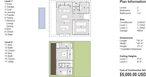 Modern Small House Plan and Design