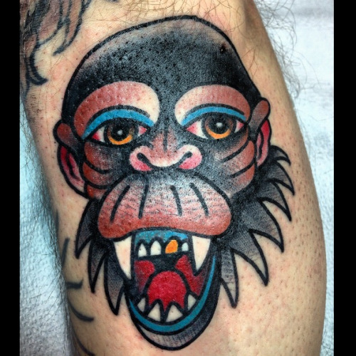 darylrodrigueztattoo:  Chimp  Hold It Down Tattoo 302 N. Goshen St. Ste. #100 Richmond,VA 23220 (804) 643-3696 Questions or concerns? Need to make an appointment? Give us a call or send an email.