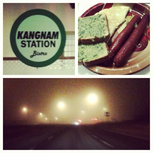 Late night adventures #spontaneous #adventurous #longdrivehome #pestotoast #kangnamstation #realizationstrumpexpectations