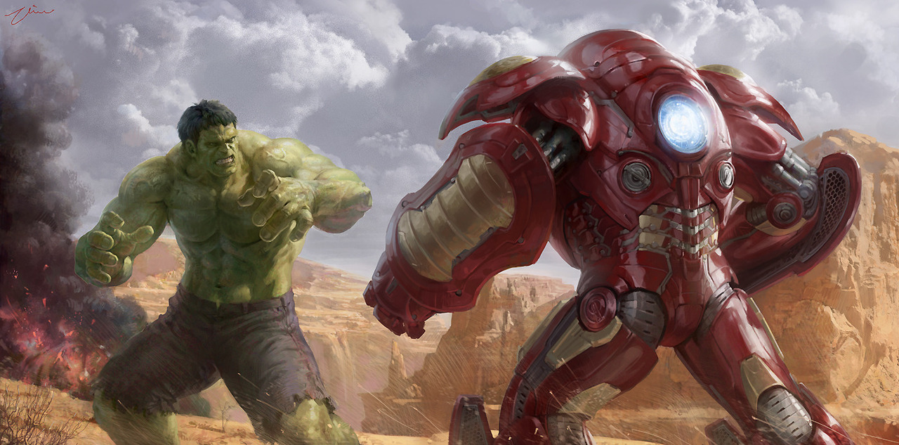 This little piece of geek art by Hanho Lee is fucking astonishing. Hulk Vs Iron Man in a Hulk-buster suit. Bravo. (Take a look at his blog for more of his work)