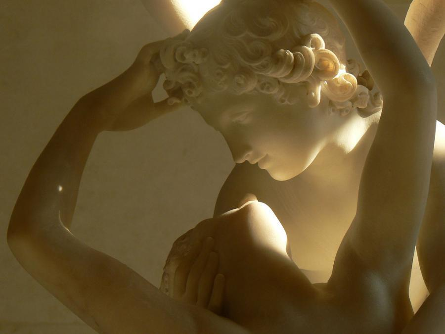 harvestheart:  Psyche And Cupid, Louvre Museum