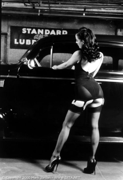 "adianina:  Dita von Teese ""Standard Lubrication"" shot"
