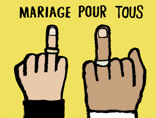 newsofthetimes:  support gay marriage! Illustration by Jean Jullien, read the related article