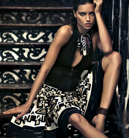she-loves-fashion:  SHE LOVES FASHION: Adriana Lima by Russell James - Donna Karan Spring/Summer 2012