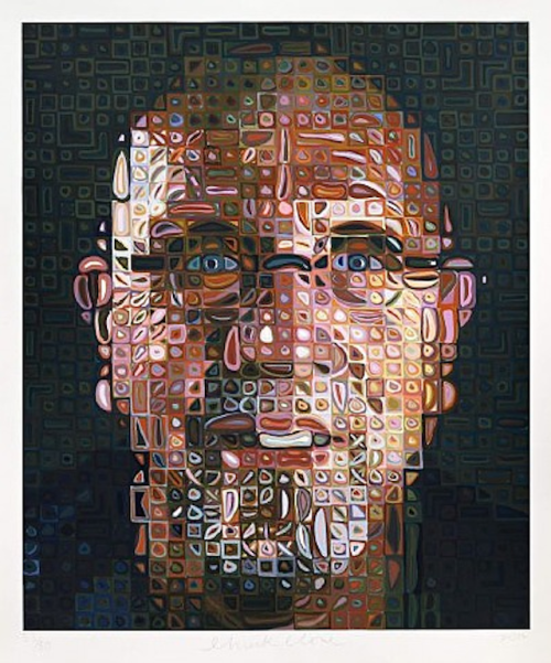 Chuck Close  Apart from the annual Oktoberfest extravaganza, Munich is also known for its excellent cultural offerings! So if you happen to be in the Bavarian town this week, don't miss this: Galerie Thomas Modern is showing a collection of work by artist Chuck Close. The opening will take place this Thursday, November 22, at 7:00 p.m.  Close is best known for his large scale Photorealist portraits, composed of tiny airbrush bursts, thumbprints, or looping multi-color brushstrokes.  Check out more art events and exhibitions happening around the world this week.