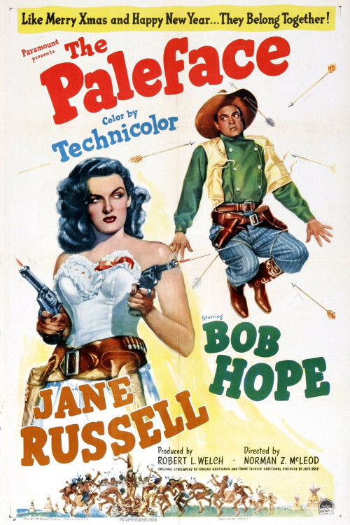 The Paleface (1948) Pros: The biggest two reasons to see this film are Jane Russell and Bob Hope, who dominate this comedy western. Russell (who was infamous for her voluptuous figure as seen in 'The Outlaw') was able to demonstrate in this film some solid comedic skills whilst still keeping her feminine charms as part of her role's focus. Hope is up to his (then) usual tricks of playing a cowardly wise-cracking everyman who somehow seems to accomplish more by blunder and bluff than a more heroic leading man could. Westerns were a staple of Hollywood films from the birth of the industry through to at least the end of fifties, and generally speaking they took a dramatic turn (with some rare exceptions such as the B grade films like 'The Terror of Tiny Town' etc). In its way 'The Paleface' was following in the very narrow path trod by 'Go West' from The Marx Brothers, then more illustriously shown in the Mel Brooks classic 'Blazing Saddles'. The song 'Buttons and Bows' is peformed by Hope in this film, and it is one of those classic movie songs that deserved its Oscar. Cons The plot is silly and very much a pot boiler from an era when Westerns were churned out a dime a dozen. Don't expect to see the same invention as seen in the previously mentioned 'Blazing Saddles' (in fact it could be argued that the idea that Bob Hope's character is a gunslinging hero instead of a dentist is a rip-off from the Disney short 'The Brave Little Tailor'). This is not a PC film, where Native Americans are shown with dignity or cultural sensitivity. If you want a more modern parallel, take a look at some of the old episodes of 'F Troop' for reference. Bob Hope is Bob Hope…the predictability of his performance is both a blessing and a problem. In some ways watching 'The Paleface' is like a western 'Road To…' movie without Dorothy Lamour or Bing Crosby Final Rating  2 out of 5 Bill Collins