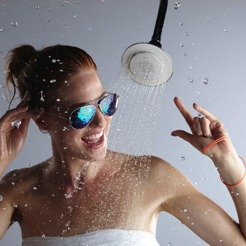 Wireless Speaker Shower Head The K9245 Moxie also comes equipped with a wireless speaker that fills the shower with crystal-clear sound. Even more, the wireless speaker pairs wirelessly with your Bluetooth-enabled device, and its magnetic design snaps securely into place and pops out for playing music anywhere. No need to cut that favorite song short—you can dance your way from the shower to the dressing room to the kitchen table for toast and coffee before you head out the door. Own It