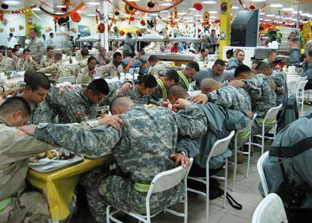 As real as Thanksgiving gets for service members, remember the ones that can't be with their families for the Holidays ♥ Jennifer