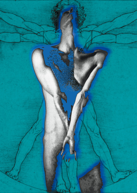 In blue-Volviendo a nacer, azul. Photography Digital Art Carmen Fulle