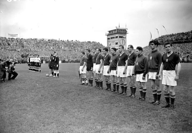 West Germany v Hungary - 1954 World Cup Final. Source: L'Equipe Magazine