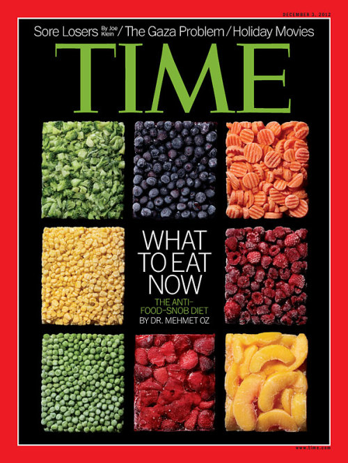 The latest issue of TIME, featuring our cover story, 'Give (Frozen) Peas A Chance And Carrots Too,' hits newsstands Friday.(Photograph by Dwight Eschliman for TIME. Food Styling by Kevin Crafts)