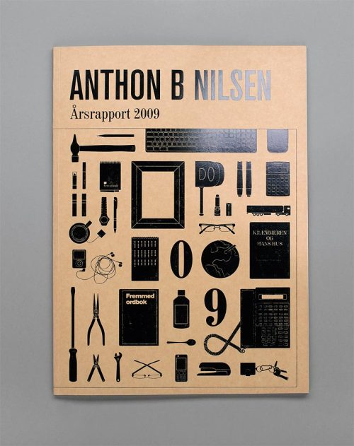 imnotagraphicdesigner:  cover of annual report for Anthon B Nelsen (2010) by Heydays in col­lab­o­ra­tion with Berit Bakkerud & Mar­tine Holm­sen