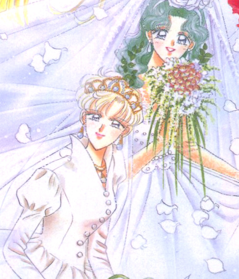 Uranus and Neptune at a wedding. c: