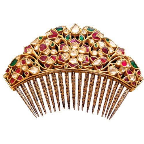 Sunita Shekhawat Jewelry has really exquisite, unique designs. Take a look at this lovely hair comb. Seen on Vogue.In