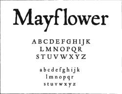 "Happy Thanksgiving! This is the font ""Mayflower"" which I find extremely appropriate at this time!"