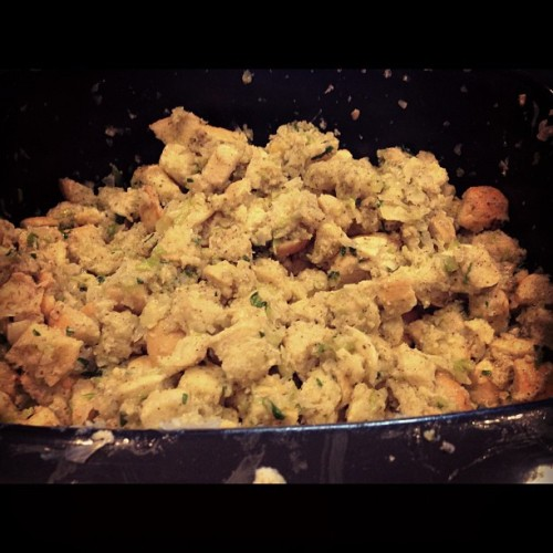 Making stuffing!!