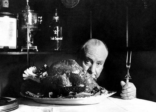 Happy Thanksgiving, everyone! Catch you Monday. - Heidi  Alfred Hitchcock.