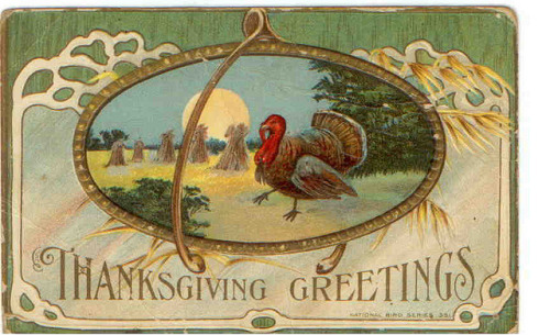 Vintage Thanksgiving Postcard by bulldoggrrl on Flickr.
