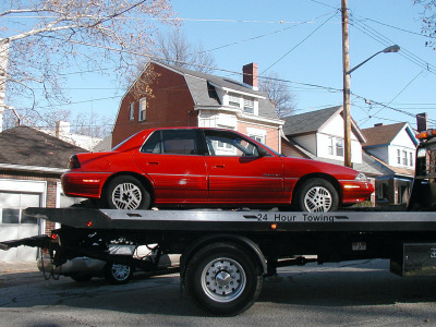 Farewell to my old, no-longer-running or repairable Pontiac Grand Am!