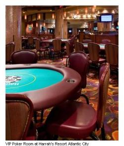 Harrah's poker room in Atlantic City!