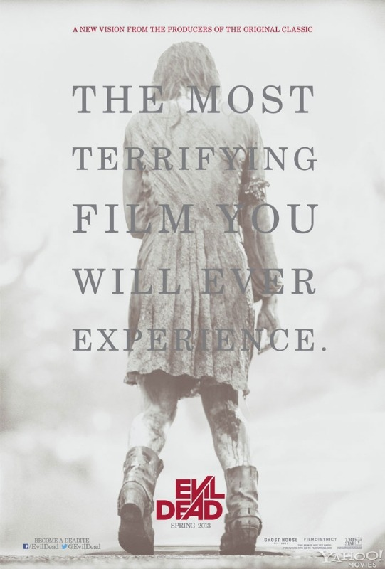 Join us in being somewhat frightened by the brand new teaser poster for the remake of The Evil Dead.With a darker tone to the original and the approval from Sam Raimi& Bruce Campbell, we think this remake has the potential to be great and we think it will be.Evil Dead is released April 2013.