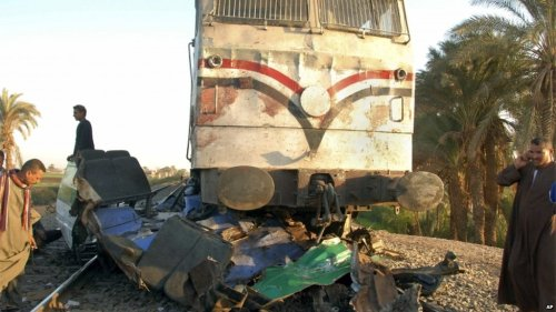 Bus vs. train - Manfalut, Egypt - 11/17/2012 - 51 fatalities (driver and 50 child passengers). BBC
