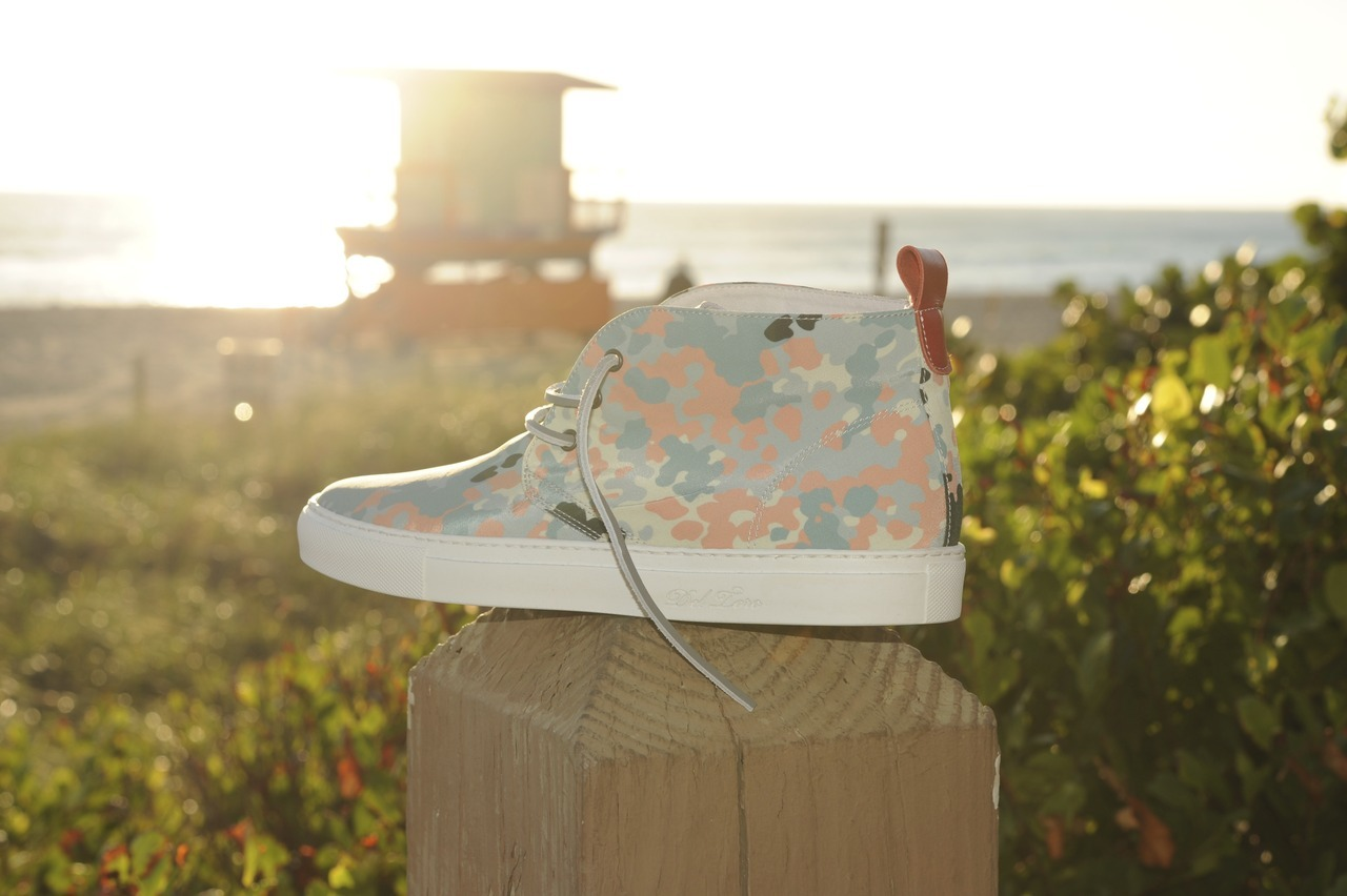 "ShoeGallery. X Deltoroshoes  ""South Beach Camo"" Drops 12/3 only @ShoeGallery. @Deltoroshoes"