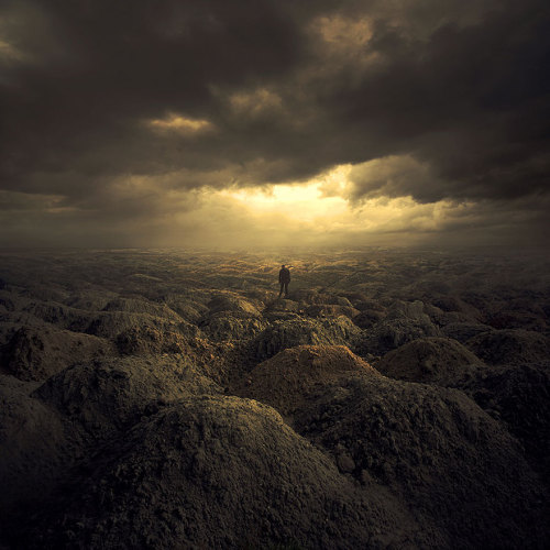 Awe-inspiring Digitally Manipulated Worlds by Michal Karcz Viewing his work as a journey to the places which don't exist, Polish artist and photographer Michal Karrcz found that using digital photography and software gave him the opportunity to generate unique realities that are impossible to create with ordinary dark room techniques.  Artists: | Website | [via: Bored Panda]