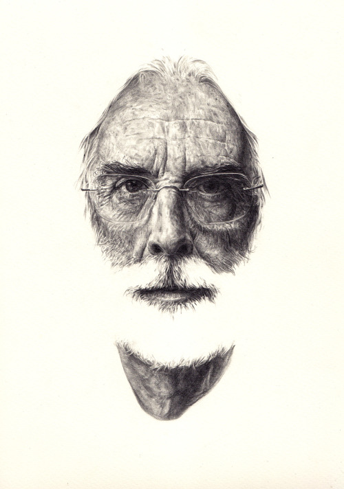 A portrait of Michael Haneke, Austrian film director and persistent beard owner. As far as I can tell. I've seen two of his films, The White Ribbon and Funny Games. Though tough going at times, I loved the former, but despised the latter, which I guess that was in many ways the point.  Anyway, Haneke's most recent film, 'Amour' was released last week, and I hope to catch it soon.