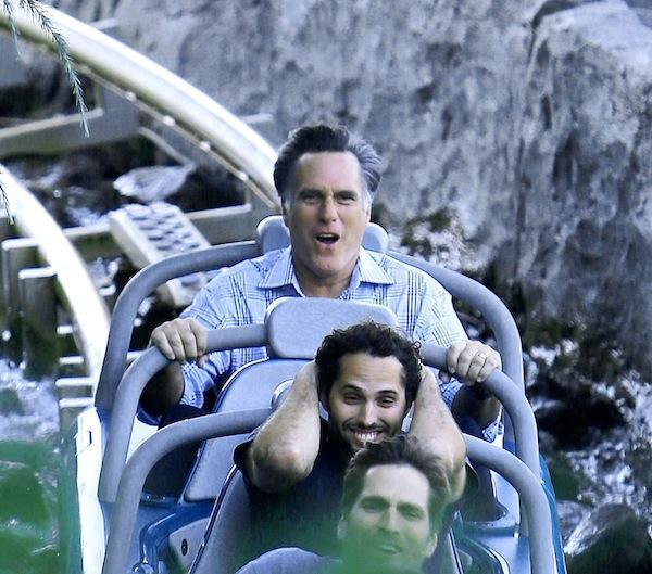 brooklynmutt:  Romney in Disneyland   Straight out of a South Park episode