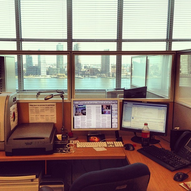 Enjoying the view! #office #nyc #winter (at United Nations Secretariat Building)