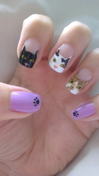 Meow! Cute cat nails from Alexis C.!