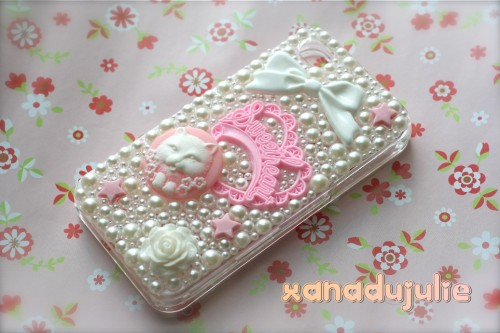 Sweet Kawaii Kitty Pearl Case :3