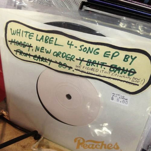 New Order-y (at Wuxtry Records)