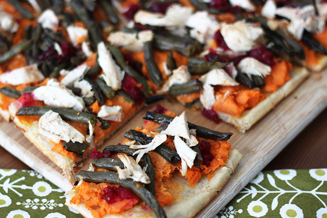 All the best parts of Thanksgiving dinner… in a flatbread!  Would you eat one?