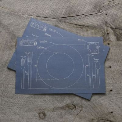 laughingsquid:  Blueprint Placemats
