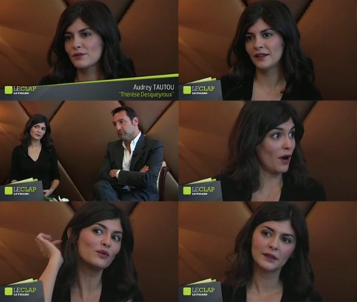 Audrey Tautou interviewed by Olivier Delcroix for Le Figaro (x)
