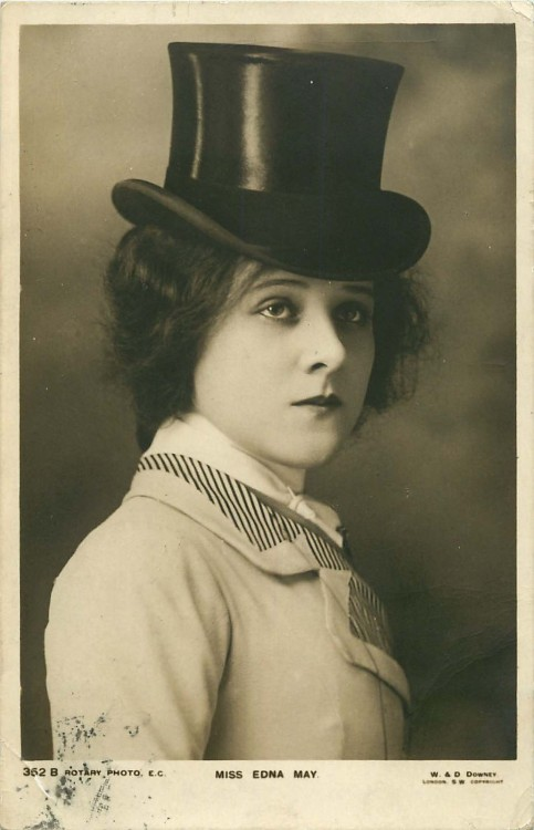 carolathhabsburg:  Miss Edna May in Top hat