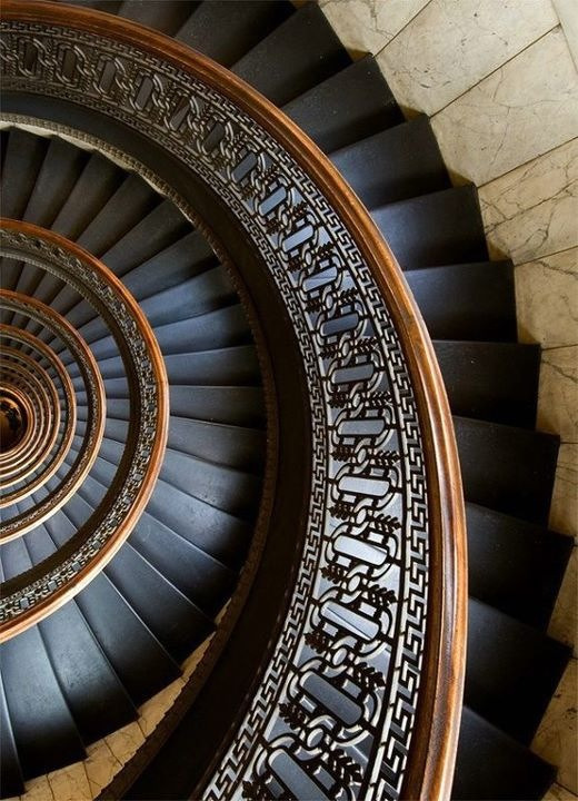 theblackworkshop:  circular staircase is in the Bank Tower in Pittsburgh, Pennsylvania.© Andrew I. Boyd