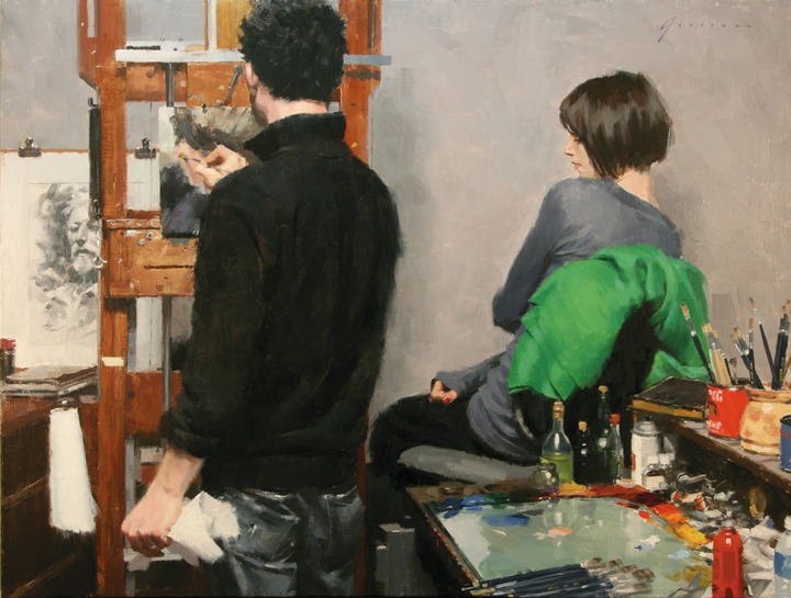 Vincent Giarrano, Casey Baugh in Studio