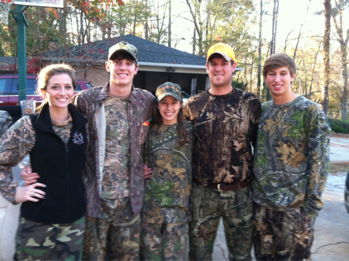 Huntin' time with the Parker fam. Had to rock the #monogram!