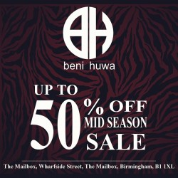 BENI HUWA up to 50% off Mid Season #SALE starts this Friday!