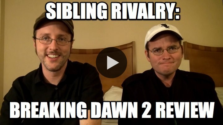 Doug Walker (aka The Nostalgia Critic!) and his brother Rob review Breaking Dawn 2 on new show Sibling Rivalry. WATCH NOW ON BLIP!