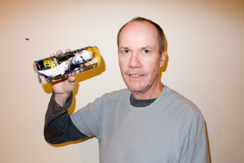 terrysdiary:  Richard Prince holding a can of his Arizona Lemon Fizz.