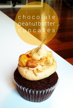 Chocolate Peanut butter cupcakes with candied Noisette / Decoration can be customised / €3 per cupcake / 12 order minimum