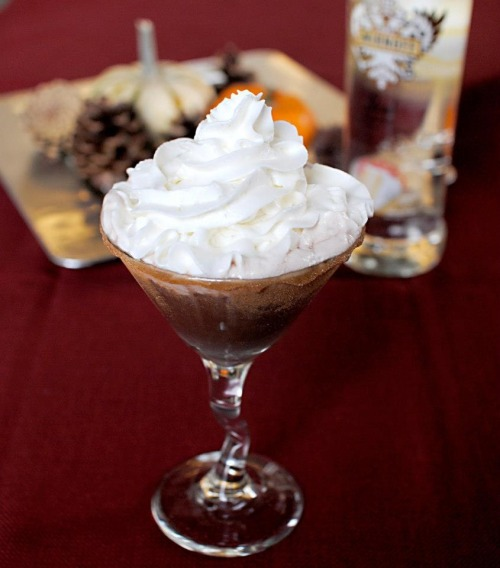 Chocolate Martini- 0.75 oz SMIRNOFF® Iced Cake Flavored Vodka - 0.75 oz GODIVA® Chocolate Liqueur - Whipped CreamIn a shaker with ice, add SMIRNOFF® Iced Cake Flavored Vodka and GODIVA® Chocolate Liqueur. Shake and strain into a martini glass. Top with whipped cream.