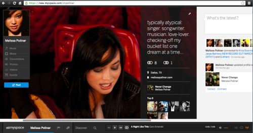 Well, hello there New MySpace!